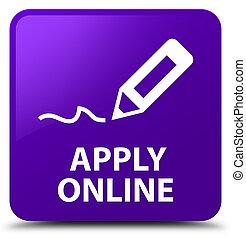 Apply online (edit pen icon) purple square button
