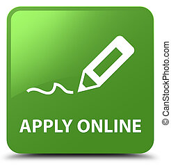 Apply online (edit pen icon) soft green square button
