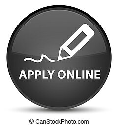 Apply online (edit pen icon) special black round button