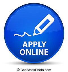 Apply online (edit pen icon) special blue round button
