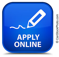 Apply online (edit pen icon) special blue square button