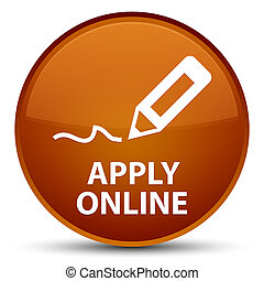 Apply online (edit pen icon) special brown round button