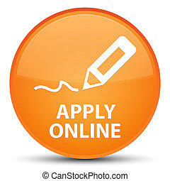 Apply online (edit pen icon) special orange round button