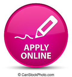 Apply online (edit pen icon) special pink round button
