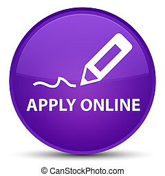 Apply online (edit pen icon) special purple round button