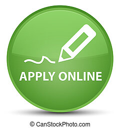 Apply online (edit pen icon) special soft green round button