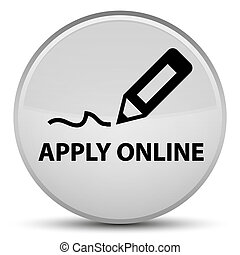 Apply online (edit pen icon) special white round button