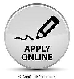 Apply online (edit pen icon) special white round button