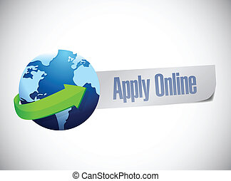 apply online globe world map illustration