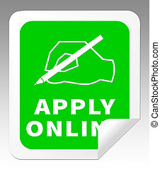 Apply Online Means Internet Job 3d Illustration