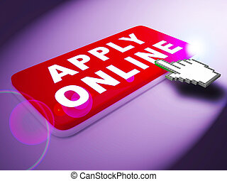 Apply Online Means Internet Job 3d Rendering
