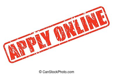 Apply online red stamp text