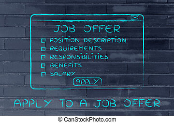 apply to a job offer, list of key elements