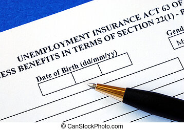 Apply unemployment insurance - Fill out the application form...