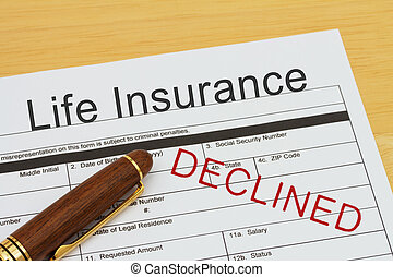 Applying for a Life Insurance Declined