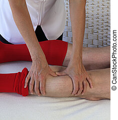Applying pressure to gastrocnemius