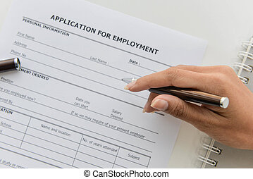 Applying the Application form to applying job