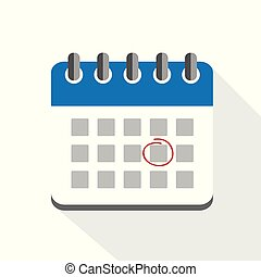 appointment in blue business calendar icon pictogram