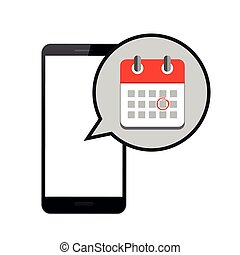 appointment in red online calendar in a smartphone