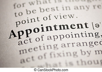 Appointment - Fake Dictionary, Dictionary definition of the...