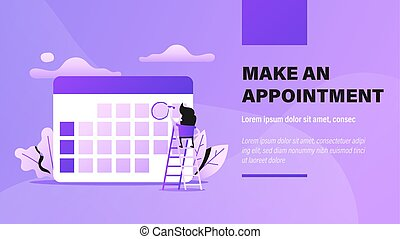 Appointment. Presentation Background with Concept ...