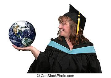 apporte, education, ton, mondiale, bouts doigt