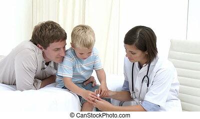 apporter, père, fils, sien, doct