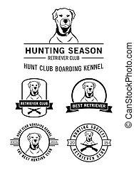 apportierhund, abzeichen, etikett