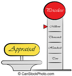 Appraisal Meter Drawing - An image of am appraisal meter...