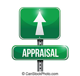 appraisal road sign illustrations design over white