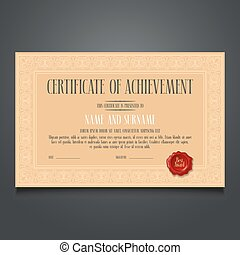 Appreciation certificate vector template illustration