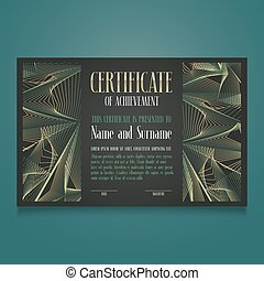 Appreciation certificate vector template illustration. Recognition blank award, diploma for achievement