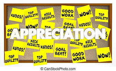 Appreciation Praise Thanks Recognition Notes 3d Illustration