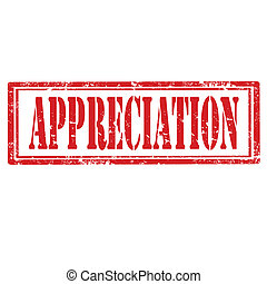 Grunge rubber stamp with word Appreciation, vector illustration