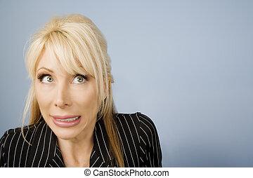 Apprehensive woman