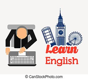 apprendre, anglaise, conception