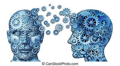 apprendre, et, plomb, collaboration