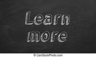 apprendre, plus