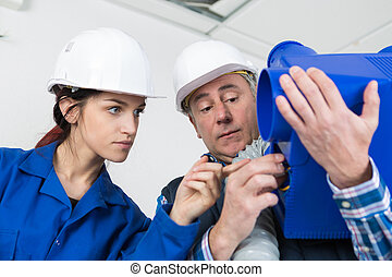 Apprentice asking question about ventilation unit