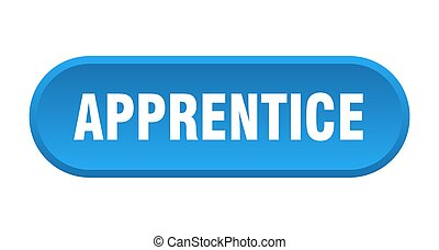 apprentice button. rounded sign on white background - ...