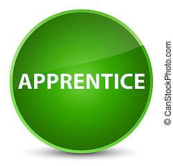 Apprentice elegant green round button