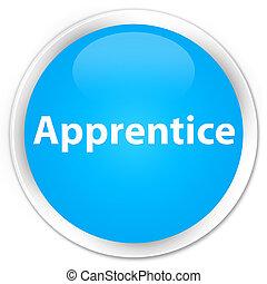 Apprentice premium cyan blue round button