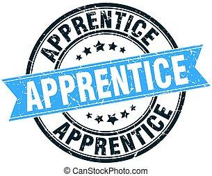 apprentice round grunge ribbon stamp