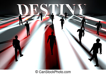 Approaching Destiny - People marching towards their Destiny....