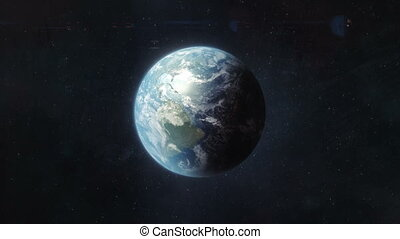 Approaching Planet Earth - This high quality shot shows the...