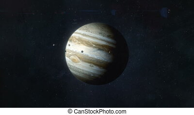 Approaching the Planet Jupiter - Gas Giant