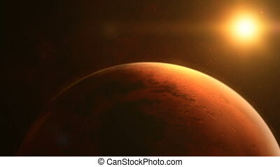 Approaching the sunlit surface of the planet Mars - ...