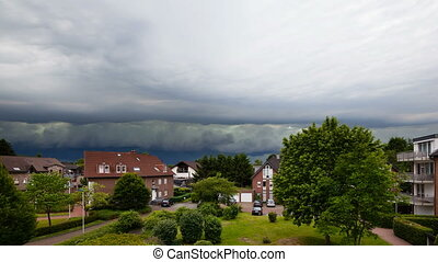 Approaching Thunderstorm Timelapse - Timelapse zooming in of...