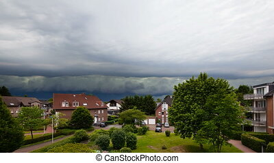 Approaching Thunderstorm Timelapse - Timelapse of a...