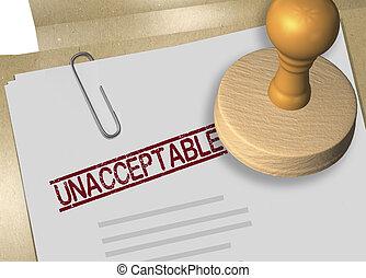 approbation, concept, -, unacceptable